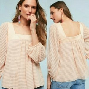 Anthropologie Meadow Rue Allyson Textured Blouse